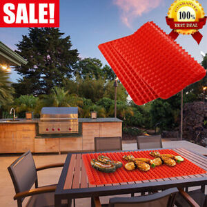 Pyramid-Pan-Fat-Reducing-Silicone-Cooking-Mat-Oven-Non-Stick-Baking-Tray-Sheets