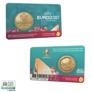 België 2021 - 2,5 euro - UEFA EURO 2020 - Nederlands- en Franstalige versie