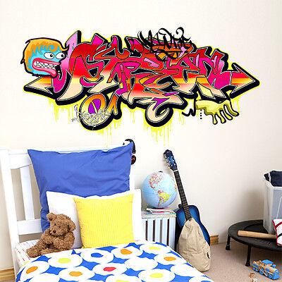 carta da parati Misure 120x60 cm adesivi per muro Decorazione parete kina R00068 Adesivo murale per bambini Wall Art Hip-hop music graffiti