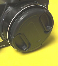 FRONT SNAP-ON LENS CAP  DIRECTLY TO CAMERA NIKON COOLPIX L320 L 320 +HOLDER
