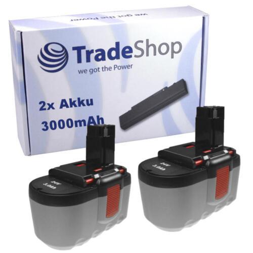 2x Batterie 3000mah 24v pour Bosch 3924-24 3960 52324 52324b GCM 24v bat030