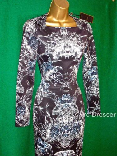Baker 6 Black Bodycon Bodycon Ted 8 Evergreen Dress Rare New Uk 6wq1H55