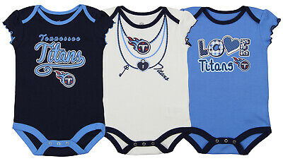 Football-nfl Devoted Outerstuff Nfl Infant Girls Tennessee Titans Assorted 3 Pack Creeper Set