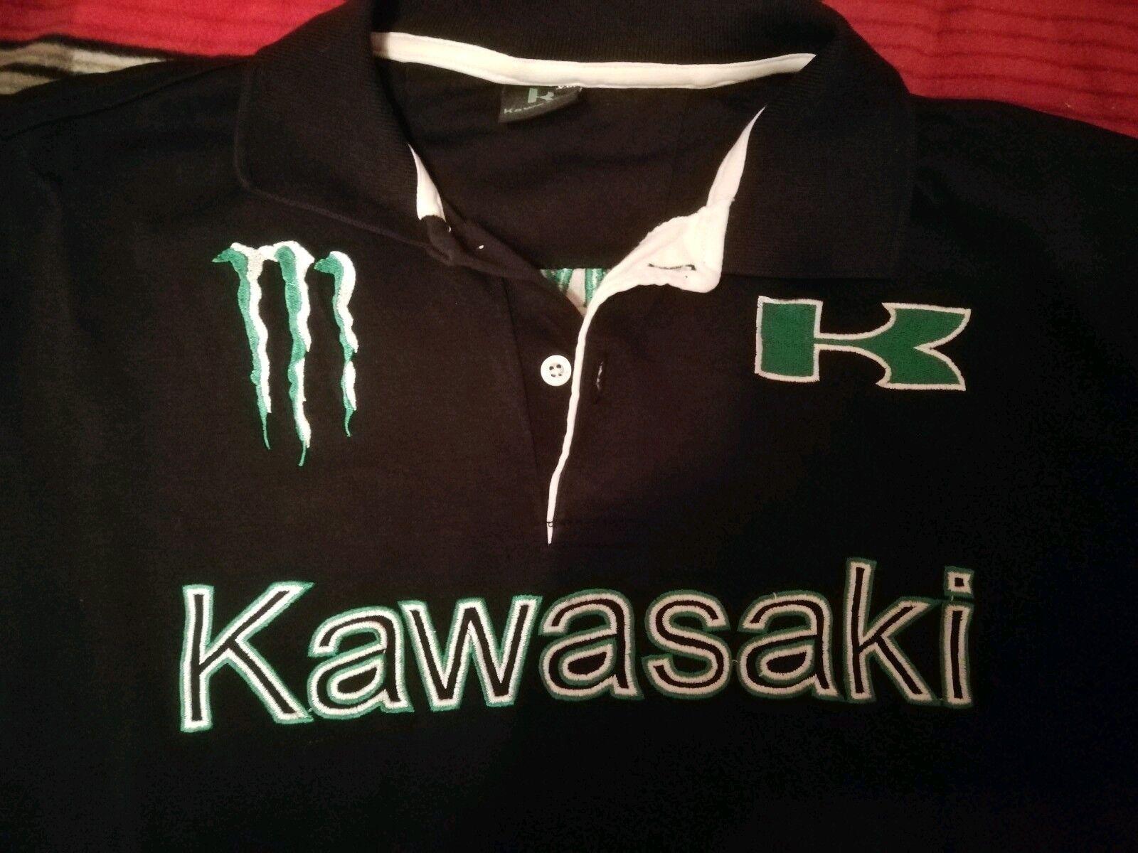 KAWASAKI Polo Shirt  schwarz grün,