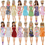 thumbnail 3 - Clothes And Accessories For Barbie Doll 32 Pcs Party Dress Outfit Glasses Shoes