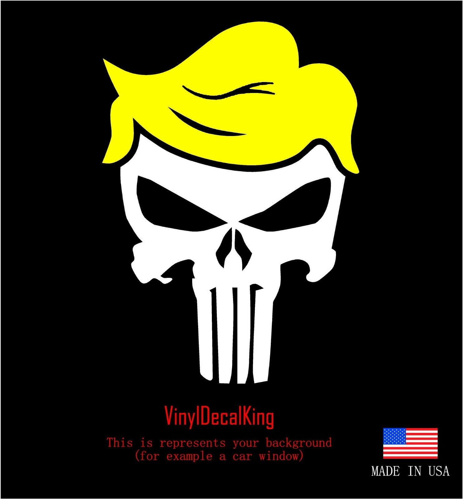 2x Trump Punisher Vinyl Decal Sticker Different colors /& size for Cars//Bikes