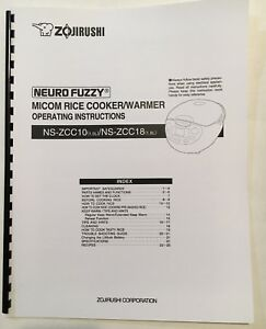 "Owner's manual ""only"" for zojirushi neuro fuzzy rice cooker ns."