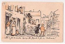 """CPA illustrateur Warnod - """" elle en fait des manières ... charbonnier """" 1917"""