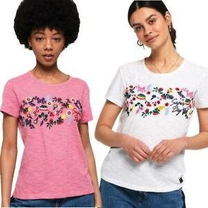 Superdry-T-Shirt-Women-039-s-Lexi-Embroidered-Tee