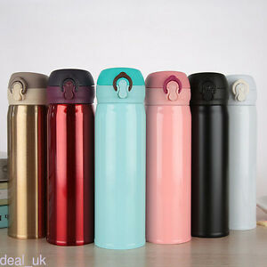 Image Is Loading 500ml Double Wall Stainless Steel Coffee Thermos Cups