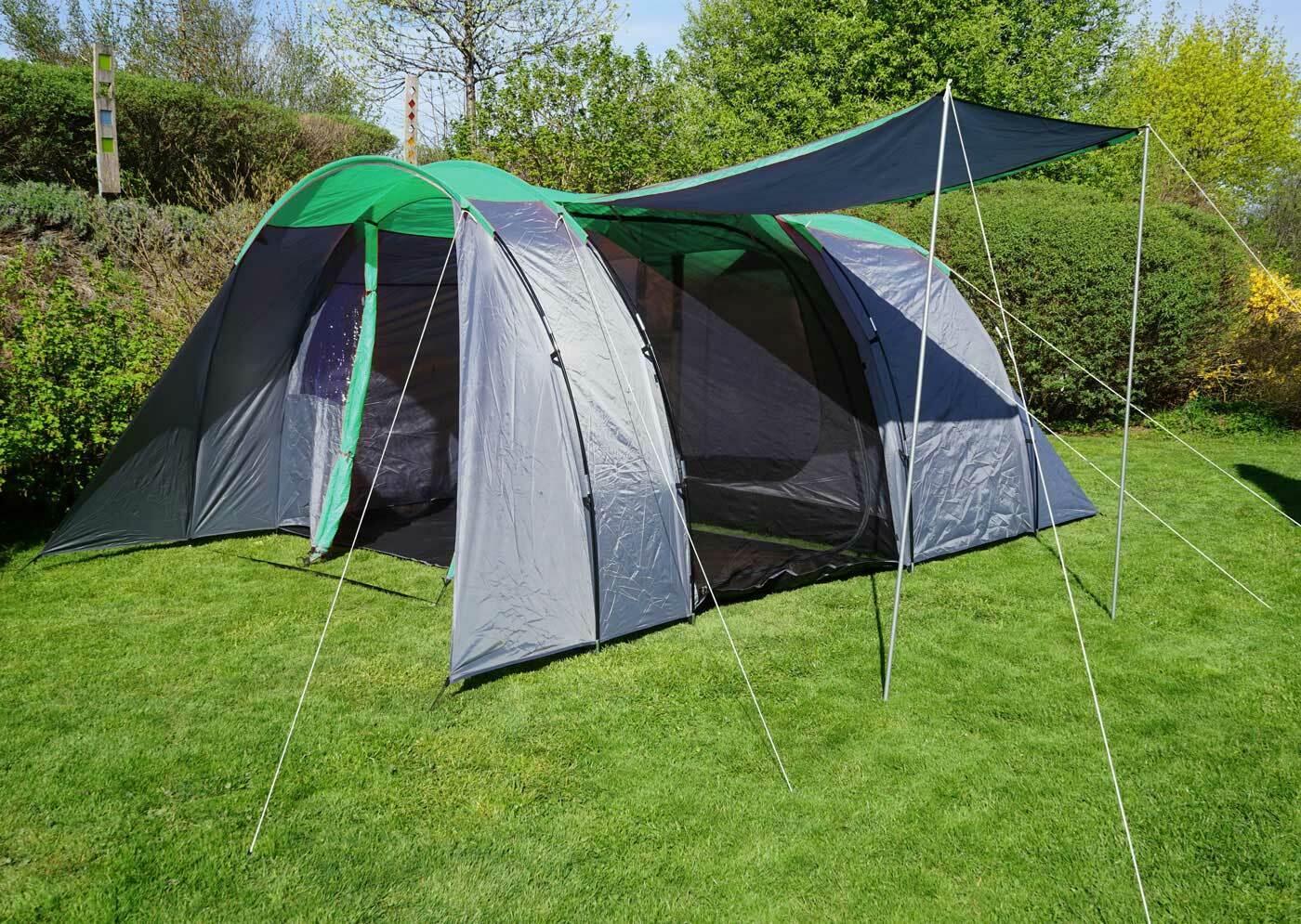 Tenda hwca99, Cupola Tenda Da Campeggio Festival TendaTenda, 6 persone verdeGrigio