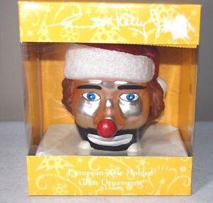 Emmitt-Kelly-Jr-Weary-Willie-Clown-European-Style-Molded-Glass-Ornament-Flambro