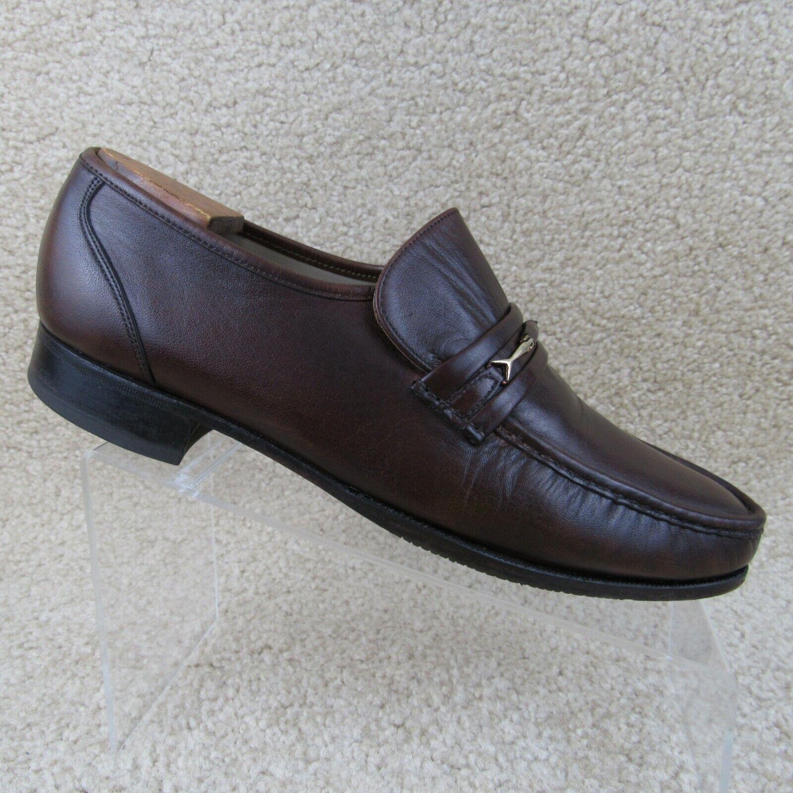 Florsheim Horsebit Leather Dress Slip On Loafer Size 10D