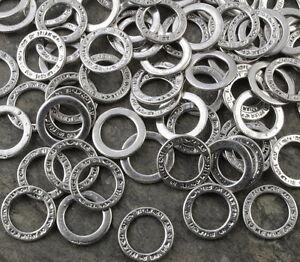 BC14-Ringe-Binderinge-14mm-Silber-Verbindungsringe-Anhaenger-10x-Perlen-Verbinder