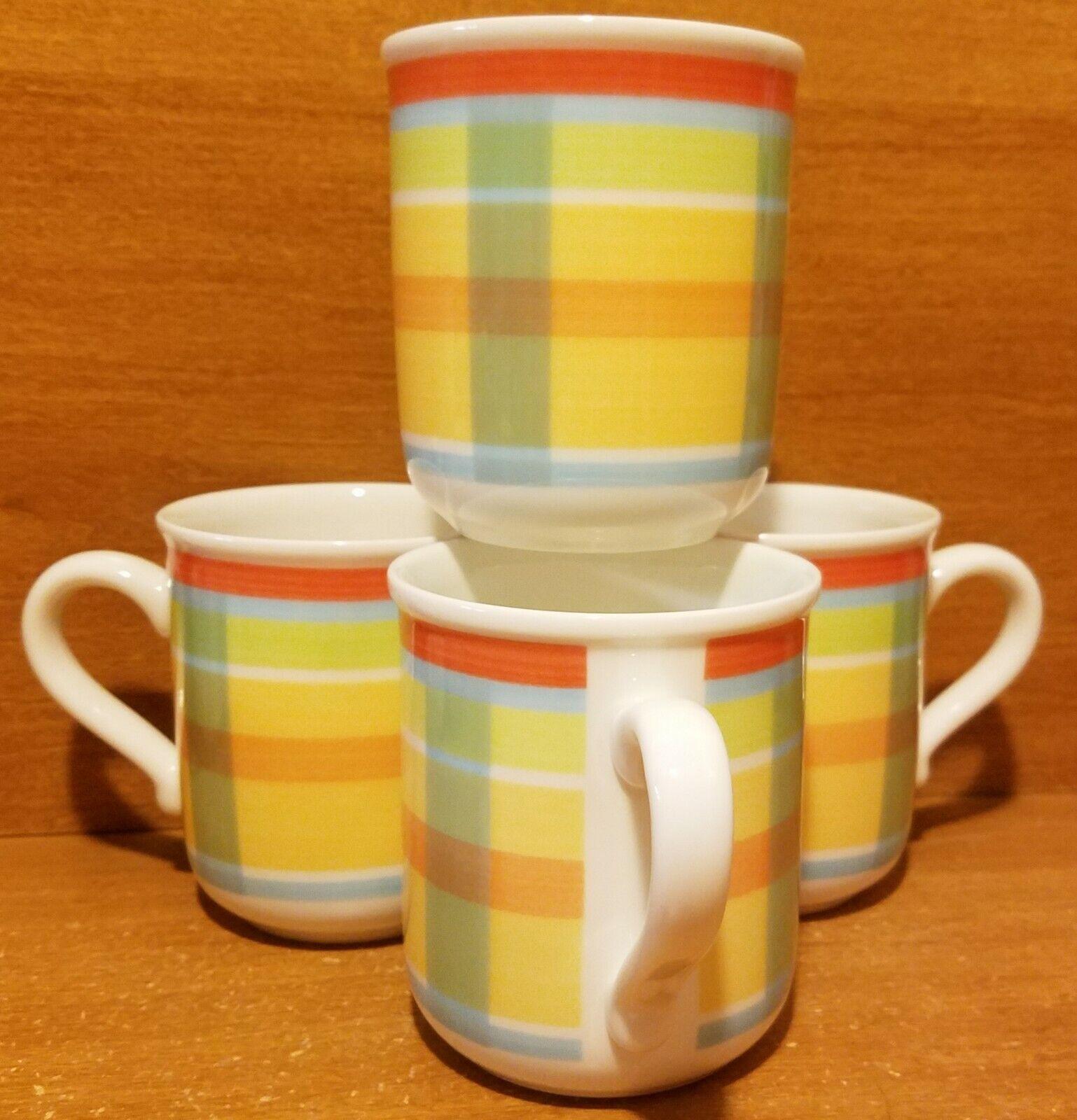 Villeroy & Boch MONSIEUR Mug set of 4, 3 5 8 , Switch Bonjour, Porcelain, EUC