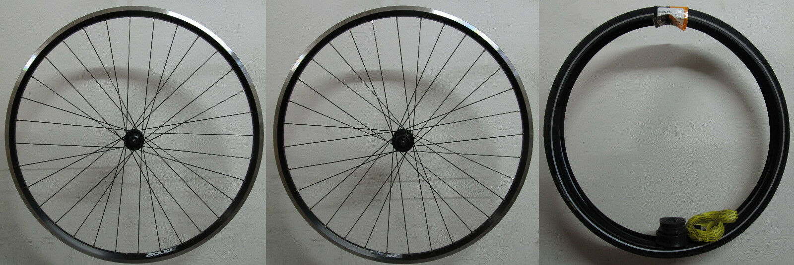Shimano Alivio T4000 T4000 T4000 Ryde Zac 2000 Set Ruote Bicicletta 28   Trekking V-Br 443bac