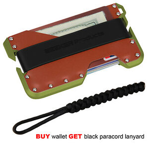 ZEEKER-RFID-Blocking-Credit-Card-Holder-Aluminum-Card-Wallet-For-Men-Green-Metal