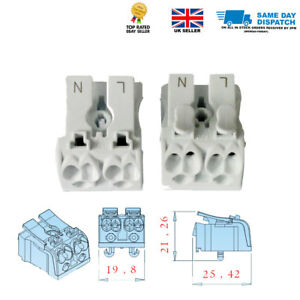 Details about Quick Push Wire Cable Connector Wiring Terminal Block on