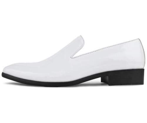Amali Men/'s Slip On White Patent Loafers Degas-007