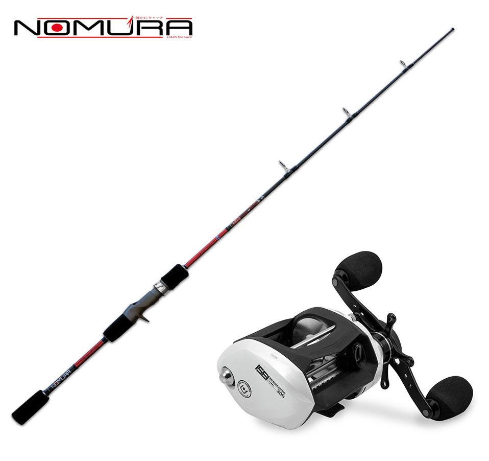 KP3045 Kit Spinning Canna Nomura Hiro Slow Pitch Casting + Mulinello Nomura CAS