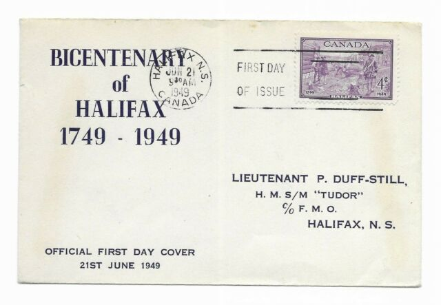 Bicentenary of Halifax 1949 Scott #283 First Day Cover Canada