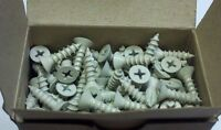 400 Pack Of Penrod Ms 103/4 Pri White 10 3/4 Flat Head Wood Screw M11689