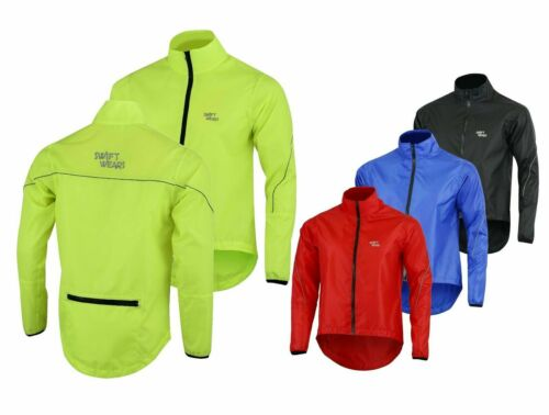 Mens Cycling Waterproof Rain Jacket Hi Visibility Running Top Coat QUALITY