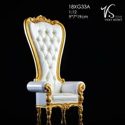 "VSTOYS 18XG33B 1//12 Black PU Sofa Chair Model Accessories F 6/"" Action Figure Toy"
