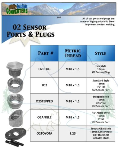 O2STEPPED x5 Pack O2 Oxygen Sensor Step Style Bung Port Boss Nut Fitting 18mm