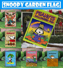 Snoopy Festival /& Seasonal Flag Set Outdoor Yard Decor Double Sided Garden Flag