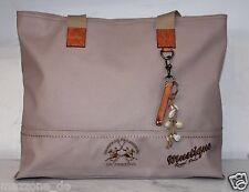 ☆ LA MARTINA Saddlery Tasche, Strandtasche, bag  Stoff Leder alt lila OVP 249€ ☆