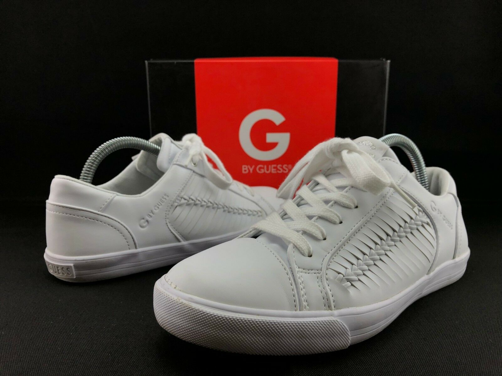G by GUESS Otalie Women's Distressed White Leather Fashion C415 Shoes US 9 M C415 Fashion e10cba