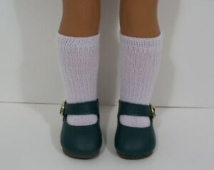 """Debs GRASS GREEN Snazzy Doll Shoes For 14/"""" American Girl Wellie Wisher Wishers"""