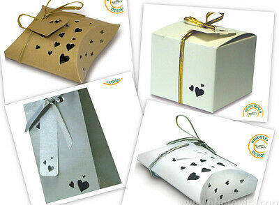 Wedding Favour Boxes/Bags/Pillows - 4 Colours - Perfect for Weddings and Parties