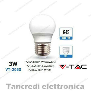 Lampadina-led-V-TAC-3W-25W-E27-VT-2053-miniglobo-bianca-attacco-grande-smd-G45