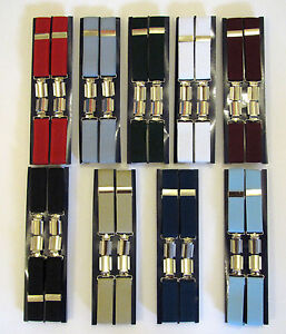 100% QualitäT Men's Plain Boxed Trouser Braces Width 25mm - One Size - Various Colourways