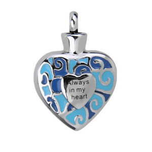 Always-in-My-Heart-Cremation-Urn-Ash-Keepsake-Pendant-for-Necklace-Jewellery