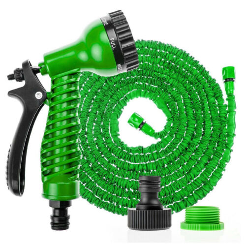 75//100//150//200ft Expandable Retractable Garden Watering Hose Pipe W// Sprayer HOT