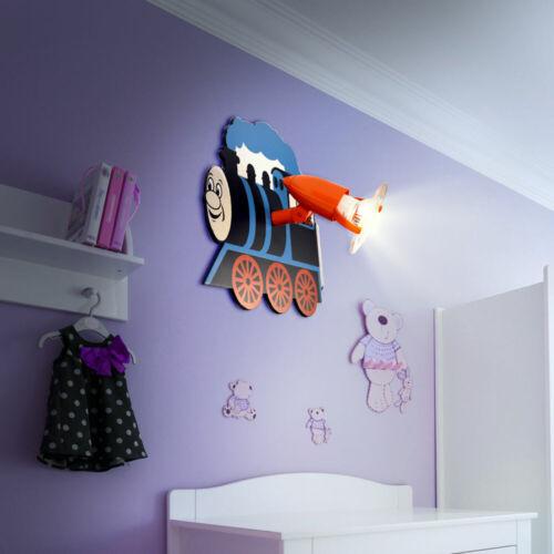 Kinder Schlaf Zimmer Decken Leuchte Zug Wand Spot beweglich Jungen Lampe blau