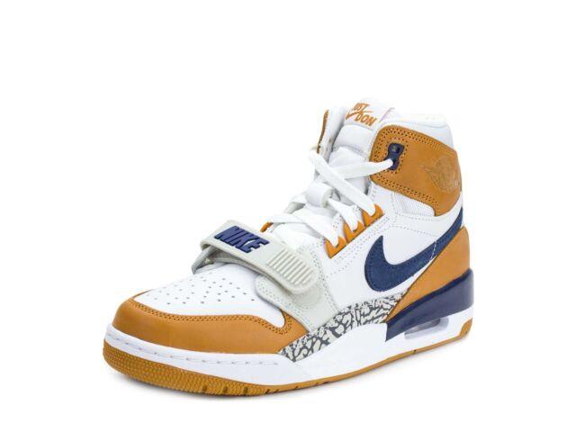 new product 2f34c 36b62 Nike Mens Air Jordan Legacy 312 NRG Just Don White Navy-Ginger AQ4160-