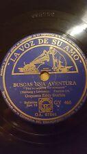 JAZZ 78 rpm RECORD VsA ORQUESTA EDDY DUCHIN Buscas una aventura / Luna en la...