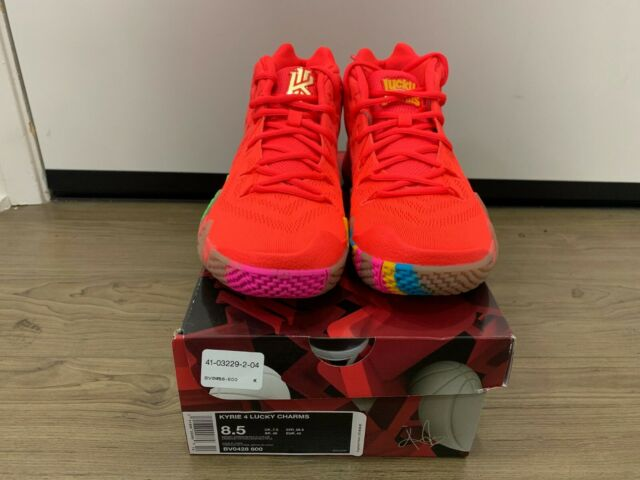 sports shoes ad1c7 15575 BRAND NEW Kyrie 4 Cereal Pack Lucky Charms Bright Crimson Multi-Color  BV0428-600