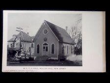 c1905 Mullica Hill, New Jersey W. C. T. U. Hall Vintage UDB Postcard