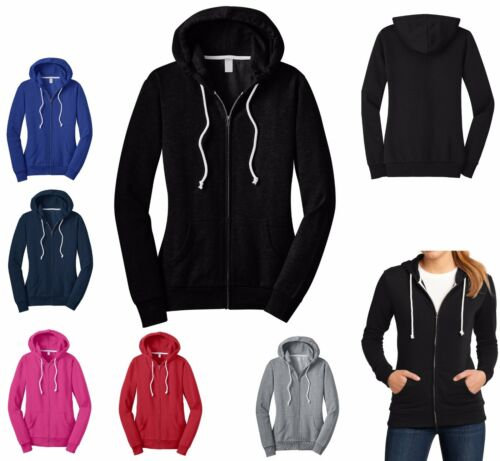 XS-4XL HOODED SWEATSHIRT JR/'S ZIP UP COTTON//POLY CLASSIC HOODIE MID-WEIGHT