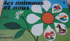 Loto-Les-Animaux-et-Nous-annees-70-Touret-Cavahel-Vintage