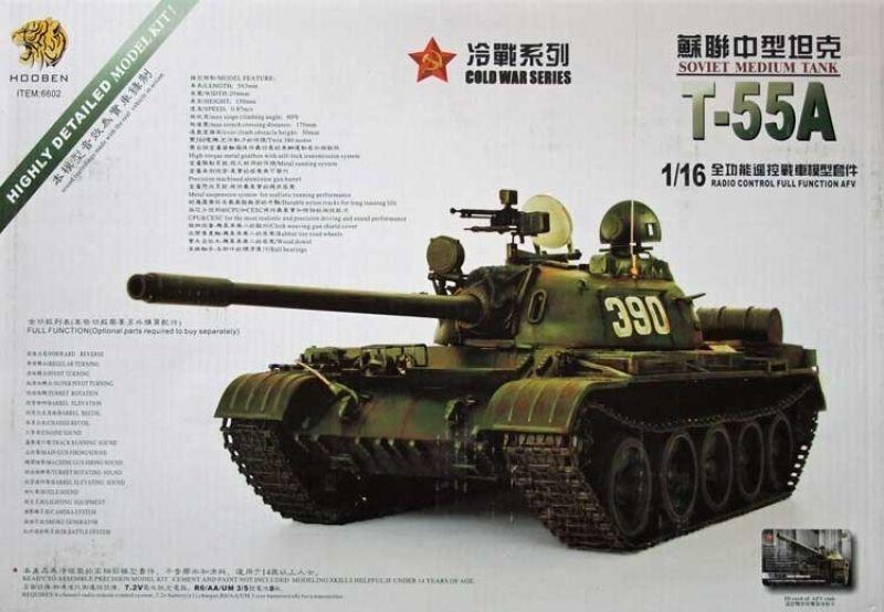 Novità Carro armato KIT di costruzione T-55A con Gear e Torre ELETTRONICA 1:16