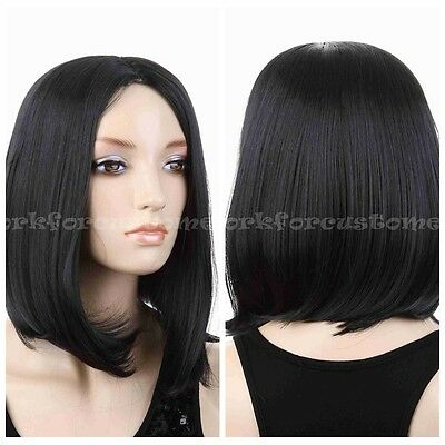 New Fashion Short BOB Women Anime Hallow Straight Brown/Black Cosplay Party Wig