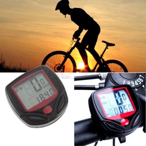 Waterproof Bike Bicycle Cycling LCD Computer Odometer Speed Speedometer Meter