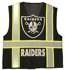 Las Vegas Raiders Black Reflective Safety Vest Withreflective Logo
