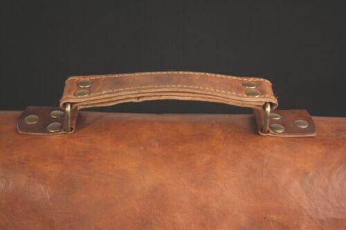Leather Vintage Messenger Shoulder Men Satchel S Laptop School Briefcase Bag